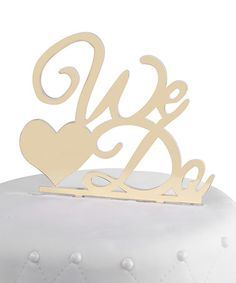 Look what I found on #zulily! Gold We Do Wedding Cake Topper #zulilyfinds