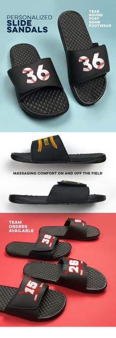 8e6951d77459 Our customizable slide-ins are the perfect season staple. Kick off your  cleats and