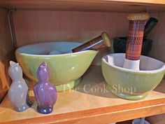 Kitchen ceramics at The Cook Shop in Brewster, MA.