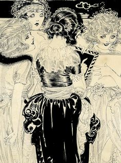 A Map of the Heart Artist:Nell Brinkley Date:1910-20 Medium:Pen & Ink