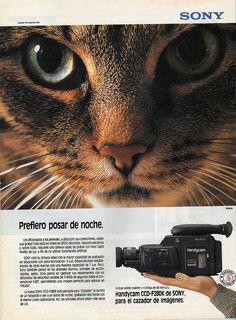 Handycam de SONY, Chile, 1990.
