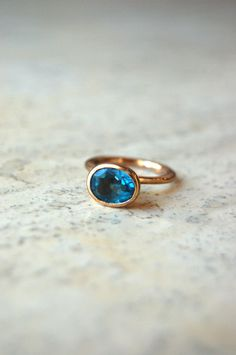 Oh- how I miss my Blue Topaz...this is beautiful!! Cleopatra London Blue Topaz Ring
