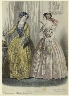 Fashion plate, 1850's, unknown source (United States)