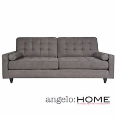 angelo:HOME Laura Sofa in Parisian Smoky Gray | Overstock.com Shopping - The Best Deals on Sofas & Loveseats