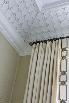 Custom curtains & ceiling moulding