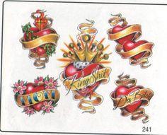 Old School Heart Tattoo Designs