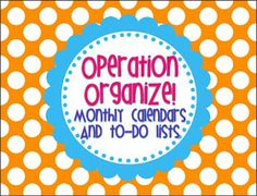 Rowdy in Room 300: Operation Organize!