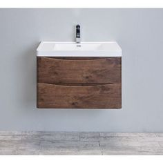 Eviva Smile 30-Inch Rosewood Modern Bathroom Vanity Set with Integrated White Acrylic Sink Transitional Living Rooms, Transitional Decor, Transitional Kitchen, Bathroom Furniture, Modern Furniture, Bathroom Ideas, Bathroom Inspo, Bath Ideas, Bathroom Renovations