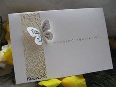 Elegant Beach Themed Lazer Cut Wedding Invitations | Wedding Invitations, Butterfly  Wedding Invites, Butterfly Wedding
