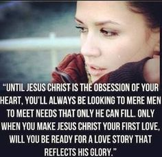 Until Jesus is the obsession of your heart...