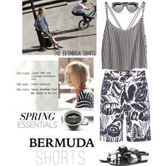 Tricky Trend: Bermuda Shorts by elena-777s on Polyvore featuring polyvore, fashion, style, H&M, Marc Jacobs, Ancient Greek Sandals, Garance Doré, clothing, Bermudashorts and springsummer2014
