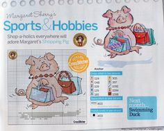 Shopping Pig by Margaret Sherry CrossStitcher Issue 225
