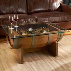 Gorgeous DIY Wine Barrel Coffee Table (with Pictures) - Aida Homes