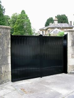 Sheeted metal double security gate