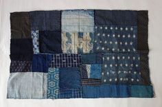 Japanese Vintage Textile Small Boro with Many Patches