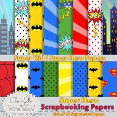 SUPERHERO ALPHABET LETTERS   Superhero Digital Letters