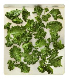 Baked Kale Chips - Love these! Even my kids ask for 'green potato chips' on a regular basis
