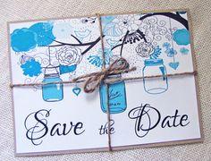 Rustic Country Mason Jar Tiffany Blue Wedding by LoveofCreating, $50.00