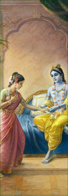 Rukmini is the first and most prominent Queen of Lord Krishna. Rukmini is also considered an avatar of Lakshmi. Rukmini works with the idea of devotion, humble offerings, and righteousness. this is where her true abundance is - her devotion. contemplate the idea that spiritual devotion carries more wealth than material abundance.