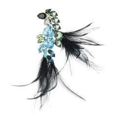 Lanvin Feather Brooch (50.790 RUB) ❤ liked on Polyvore featuring jewelry, brooches, brooches & pins, navy, handcrafted jewelry, navy jewelry, handcrafted jewellery, navy blue jewelry and navy blue brooch