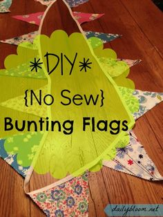 No sew bunting flags