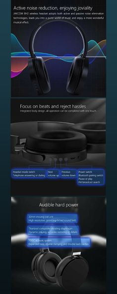1eae9a6fb4a I think this the best Bluetooth Wireless Headphones in 2018! Wireless  Headset