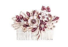 Maia Ivory & Wisteria Bridal Headpiece comb