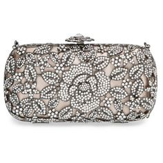 Women S Natasha Couture Crystal Caged Fl Clutch 275 Liked On Polyvore Featuring Bags