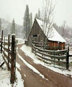 ideas for farmhouse landscaping ideas red barns ideas for farmhouse landscaping ideas redYou can find Old barns and more on our websit. Farm Barn, Old Farm, Country Barns, Country Roads, Country Life, Country Living, Barn Pictures, Barns Sheds, Winter Scenery