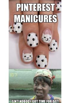 """Are you """"Guilty of Pinterest Manicures""""  (click through for 10+ more #nail funnies)"""