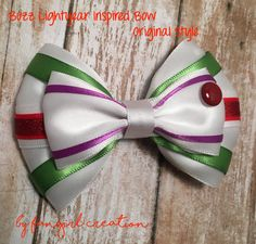 Buzz Lightyear Inspired Bow by FangirlCreation on Etsy