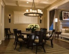 Fireplace on pinterest stone fireplaces two sided for 3 sided dining room table