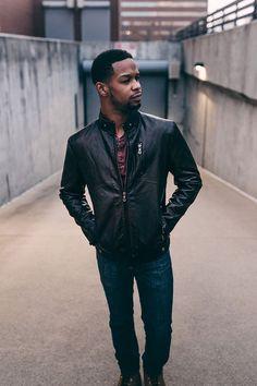 Sleek Black Leather Jacket Men Closet, Summer Suits, Fashion Night, Fashion Ideas, Leather Men, Black Leather, Leather Jackets, Stylish Outfits, Night Out