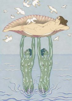 Aphrodite - George Barbier, woodcut#Repin By:Pinterest++ for iPad#