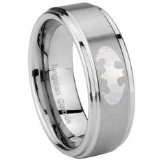 Tungsten Carbide Batman Step Edges Engraved Ring Size 4 to 14, 5MM, 8MM, 10MM ( men 10mm Size 10 ) Tungstenmen, http://www.amazon.com/dp/B008YURK7O/ref=cm_sw_r_pi_dp_j.9Sqb1MD4XB6