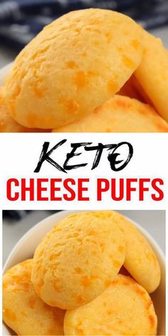 Keto Cheese Puffs! AMAZING ketogenic diet cheese puffs - Easy simple ingredient cheese low carb puffs.. BEST keto dinner, keto snack, keto side dish or keto lunch idea.Try a simple & quick homemade #keto cheese puffs easy ingredient.Gluten free, sugar free, healthy keto cheese recipe.Great sweet & savory treat for a low carb diet.Great for Thanksgiving or Christmas. Great on the go snack idea or make ahead after meal idea. #easyrecipe