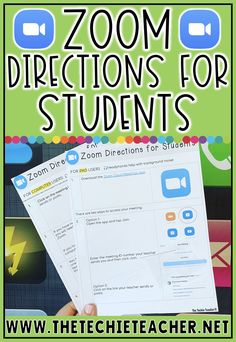 Free directions for students on how to access a Zoom conference meeting! Learning Resources, Teaching Tips, Teacher Resources, Online Learning Sites, Writing Activities, Teaching Technology, Educational Technology, Educational Quotes, Technology Humor