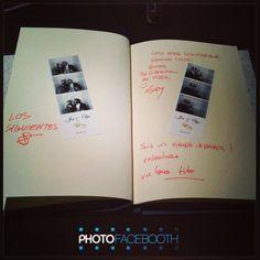 Os enseño el #álbum de firmas y fotos de #Photofacebooth!! Es increíble verlo al día siguiente y recordar todos los buenos #momentos!!