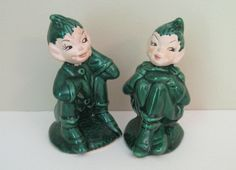 Vintage Gilner Pixie Elf Salt and Pepper Shakers - Woodland Elf Elves Sprite Shakers - Vintage Salt and Pepper Shakers. $18.00, via Etsy.