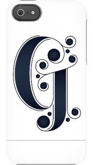 "Jessica Hische ""G"" Letterform iPhone case"