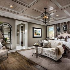 30 Fabulously Decorating Your Bedroom With Rustic Touch 16 ~ Top Home Design Dream Master Bedroom, Farmhouse Master Bedroom, Master Bedroom Design, Home Bedroom, Bedroom Decor, Master Bedrooms, Master Suite, Bedroom Ideas Master For Couples, Bedroom Furniture