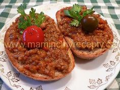 Pikantní tousty Baked Potato, Hamburger, Sandwiches, Recipies, Bread, Baking, Ethnic Recipes, Fit, Spreads