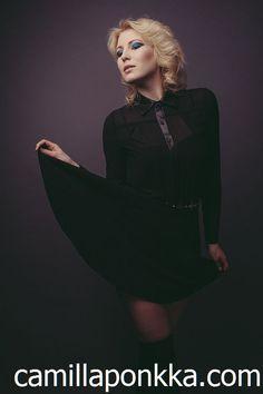 Photographer: Marko Saari Camilla, Goth, Photoshoot, Makeup, Model, Hair, Black, Dresses, Style