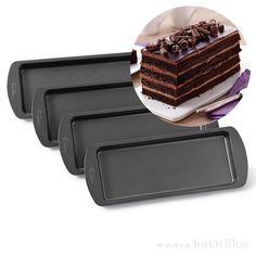Set 4 moldes para layer cake rectangulares