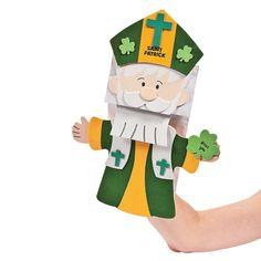 St. Patrick Paper Bag Puppet Craft Kit - OrientalTrading.com