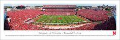 Nebraska Cornhuskers Football Panorama - Memorial Stadium Panoramic Picture - Unframed $29.95