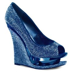 Pleaser Day & Night - RAZZLE-660RS - Blue Satin