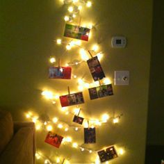 First christmas christmas trees and command hooks on - How to hang string lights on wall ...