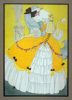 Mac Harshberger, A History of Costumes, 1928-32. Watercolor. USA. Via FAMSF