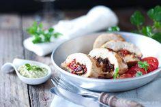 Poitrine de poulet farcie - Le Blog Safran CannelleLe Blog Safran Cannelle Poulet Shish Taouk, Easy Meals, Meat, Chicken, Recipes, Mozzarella, Blog, Palette, Stuffed Chicken Breasts